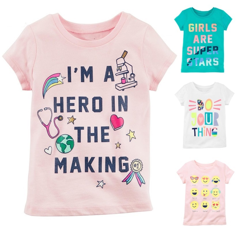Fashion Baby Girls T-Shirts Newborn Clothes Tops 100% Cotton Soft Babies Tees Shirts Infant Jumper Female Dress Clothing 0-2Year