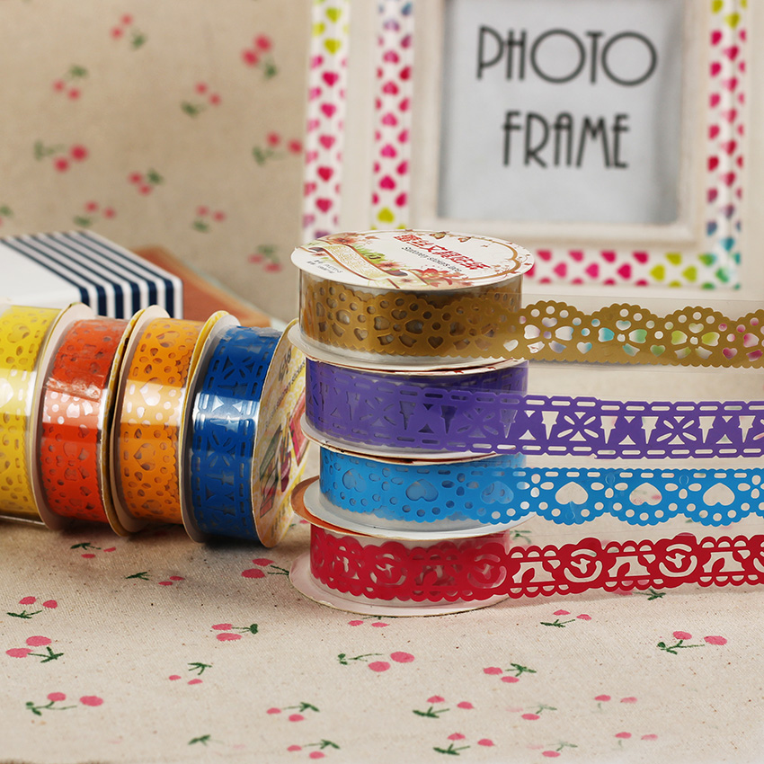 3pcs diy scrapbooking colorful lace tape tape for Decoration tape