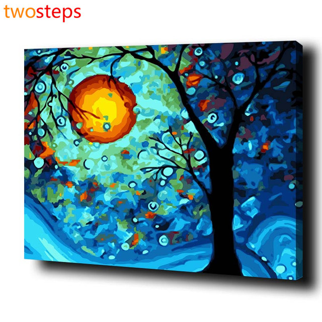 TwoSteps DIY Digital Canvas Oil Painting By Numbers Pictures ...