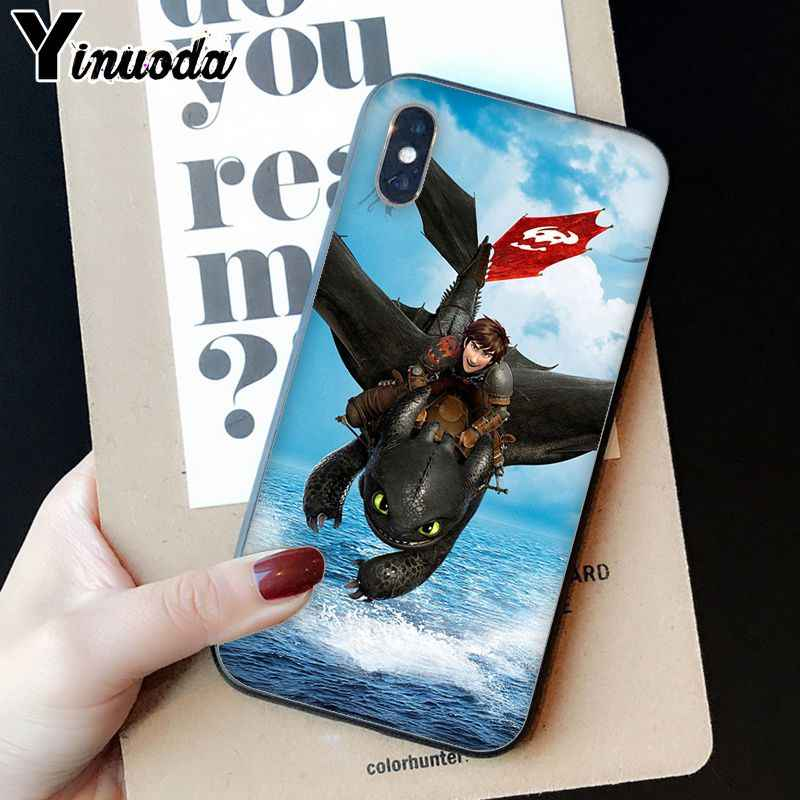 Treinar O Seu Dragão Desdentado Yinuoda DIY Luxo High-end Caso Protetor para o iphone 8 7 6 6 S Plus 5 5S SE XR X XS MAX Coque Shell