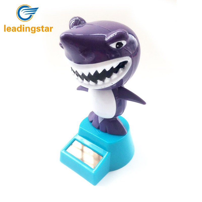 LeadingStar Solar Powered Swing Animal Toys Lovely Novelty Solar Shaking Head Frog Shark Toy Gifts for Children zk25 ...