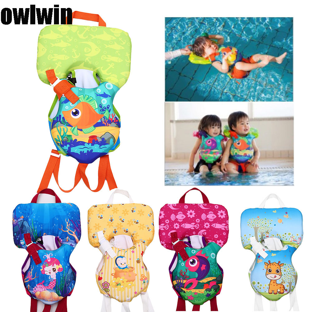 Owlwin New Baby Life Vest Life Jacket <14KG Baby Use Kids Water Bubble Buoyancy Swimsuit  Water Sports Baby Lifejacket Swimming