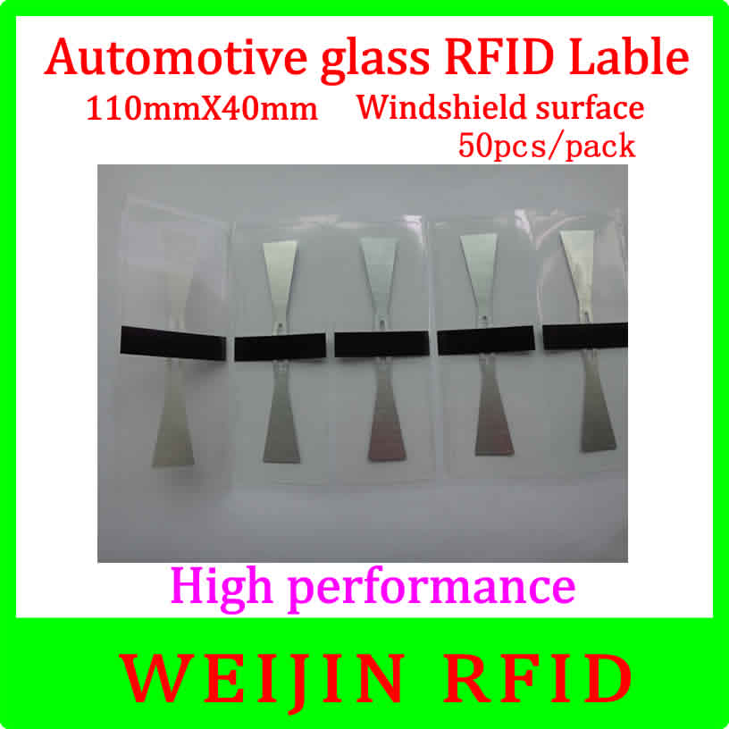 Car glass 11040 UHF RFID Tag 110mm*40mm 50pcs per pack ,can be used for  Windshield surface Car management free shipping. 50pcs 74 21mm rfid gen2 uhf paper tag with alien h3 chip used for warehouse management