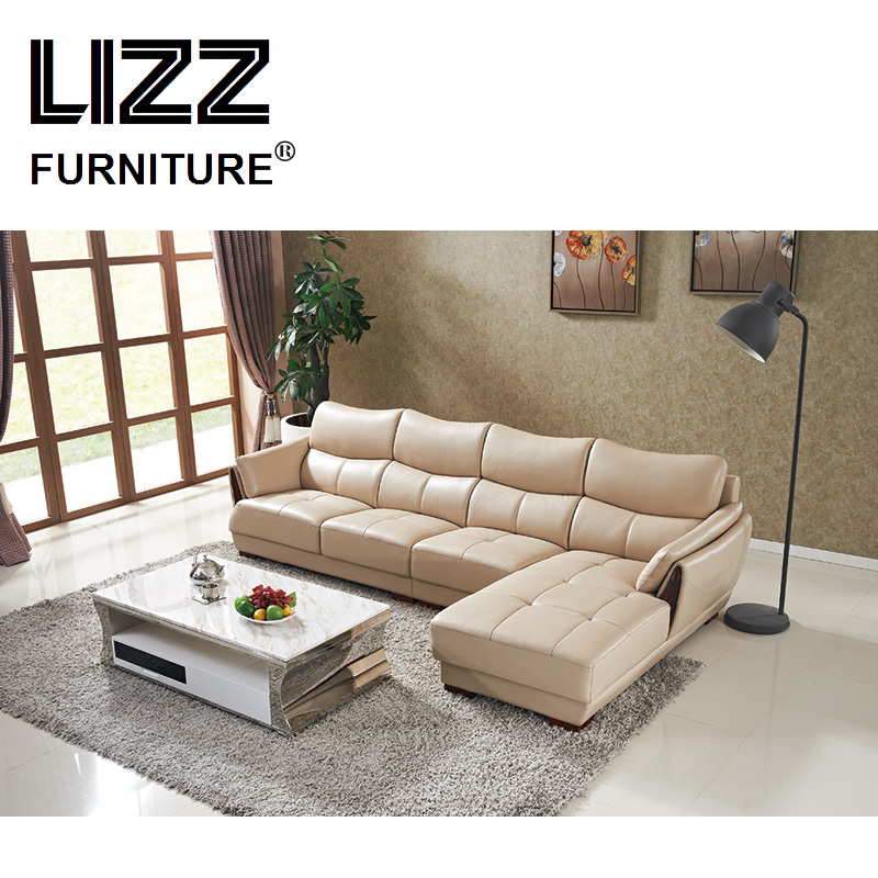 Casa Furniture Corner Sofa Set L Shape Couch Leisure Chaise Leather ...