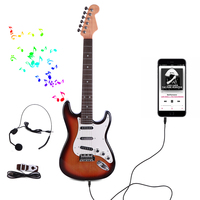 NFSTRIKE Plastic 6 Strings Children Guitar Electronic Musical Instruments Learning Educational Toy Wisdom Development Kids Toys
