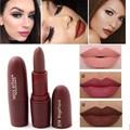 Hot sexy lábios vermelhos de batom fosco veludo lápis cosméticos longo duradoura tonalidade lábio pigmento maquiagem nude marrom batom matte lip vara