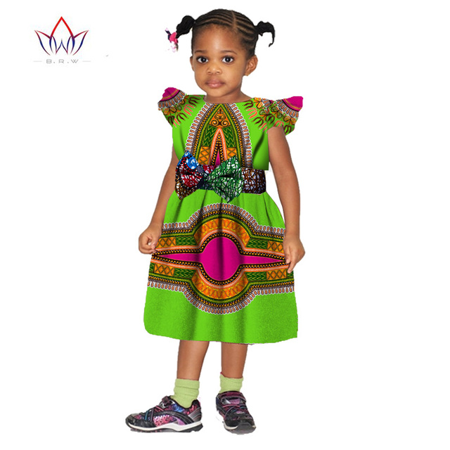 2019 African Clothing Dashiki Autumn Girl Clothes Kids Baby Girl Dress Children Flower Gilr Dresses Free Shipping none BRW WYT12