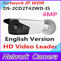 אנגלית 4MP המקורי Hikvision POE IP המצלמה IR 50 m IPC מצלמת אבטחת מצלמת אינטרנט DS-2CD2T42WD-I5 להחליף DS-2CD3T45-I5