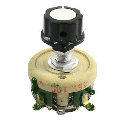 25W 100 Ohm Ceramic Wirewound Potentiometer Rotary Resistor Rheostat variable resistor wire wound rheostat 50w 20 ohm 20ohm