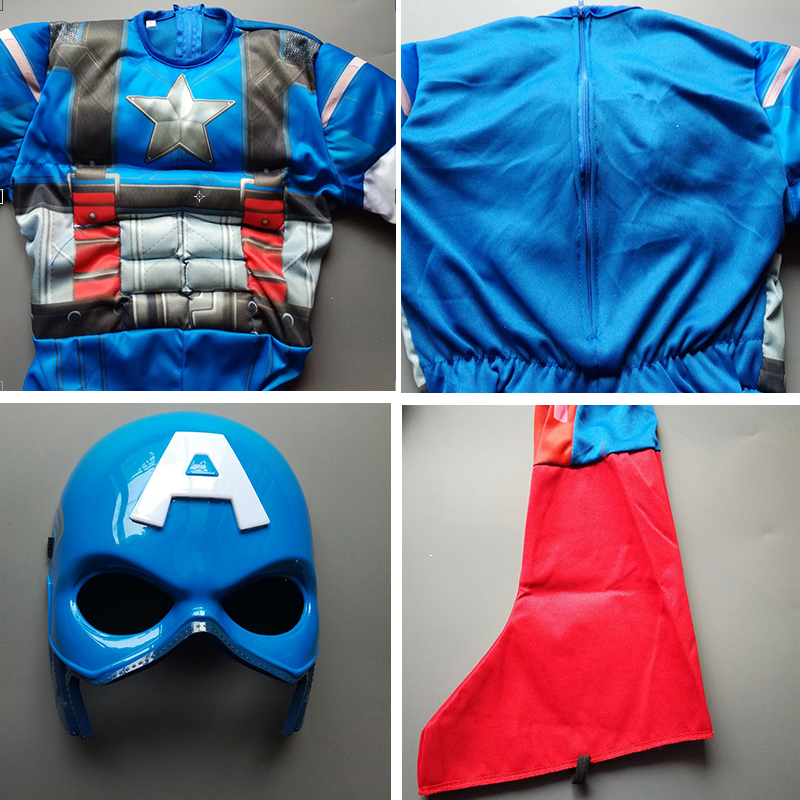 Aliexpress.com  Buy Free shipping!!Classic Muscle Captain America Costume Boys Kids Halloween Carnival Costume (Jumpsuit+mask) from Reliable halloween costume women ideas suppliers on Mystery Costumes(2)