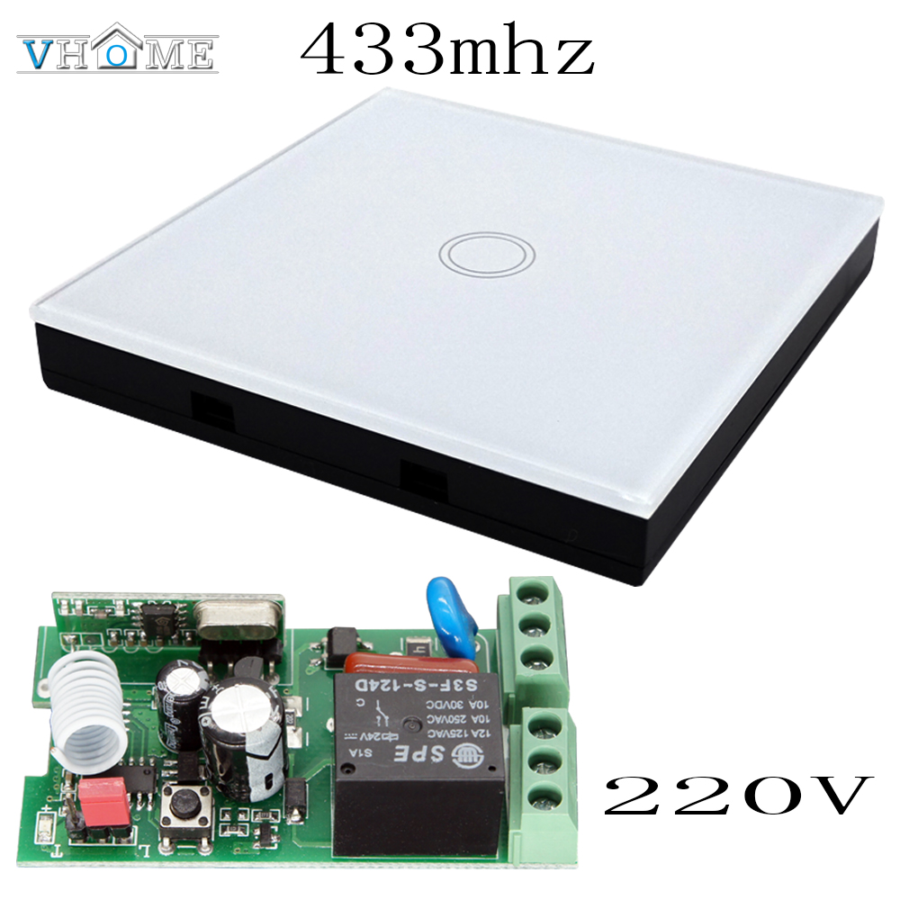 Vhome Wireless Remote control RF 433MHZ wall transmitter,AC 220V Receiver Relay switch Hall Bedroom Ceiling Lights Wall Lamps