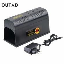 Outda electrocute электронных крысоловку Мыши компьютерные Мыши грызунов убийца электрическим током ЕС разъем адаптера высокого Напряжение