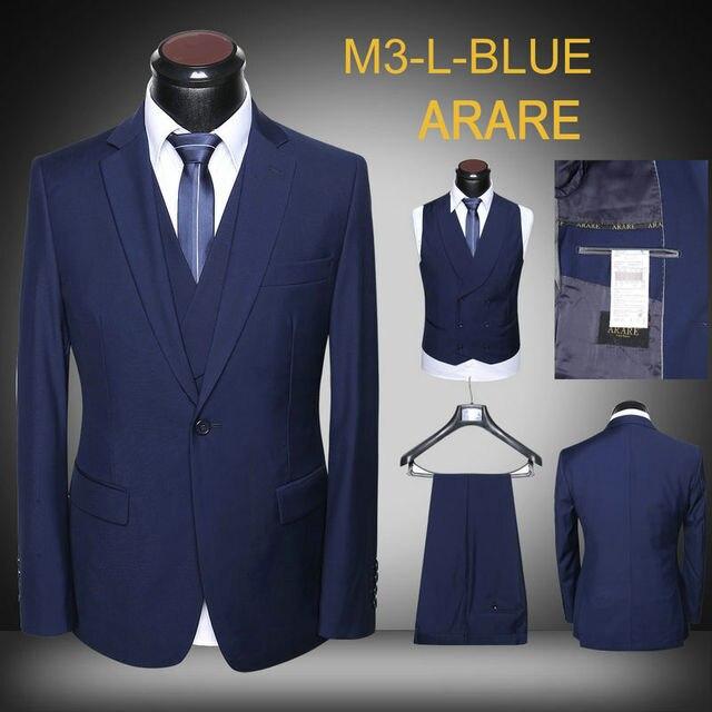 Qsvuzmp En Mode Bleu Noir Costume De Solide Hommes Gris Homme Gros 5AR4jL