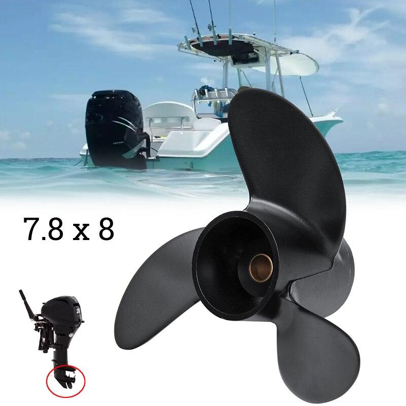 Image 5 - Convient pour Tohatsu Nissan Mercury 4 6HP 3 pales hélice hors bord 7.8*8 remplacerHélices de bateau   -