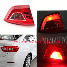 MIZIAUTO Tail Light for Chevrolet Cruze 2016 2017 2018 Tail Light Assembly Rear Brake Light Stoplight Reversing Lamp for chery a3 sedan reversing light rear tail lamp assembly brake light lamp tail light assembly