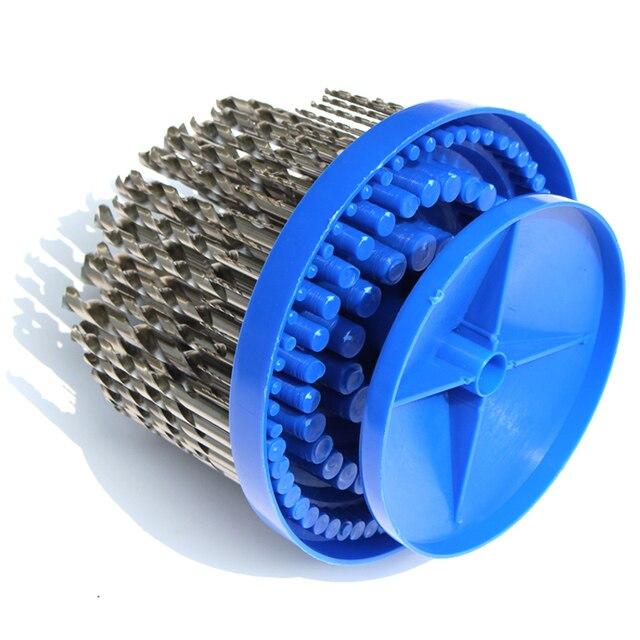 LAOA 100 pièces haute vitesse en acier entier meulage torsion forets ensemble spirale forets forage sur Cu en acier plastique fonte Al Etc.