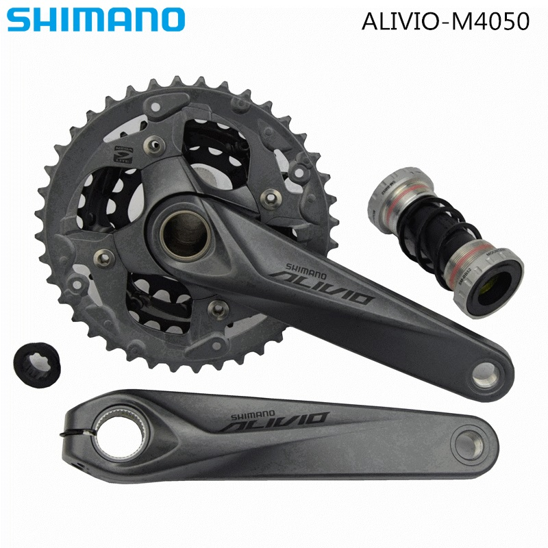 Shimano Alivio M4050 M4000   3x9 Speed Crank Crankset FC-M4050 With BB 27s HollowTech Bicycle Parts 40-30-22T