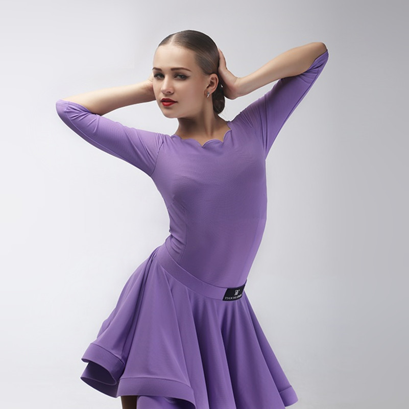 Show details for Kids Latin Dance Dress For Girls Modern Dance Costumes For Kids Latin Dress Girls Clothes For Dancing Rumba Salsa Top And Skirt