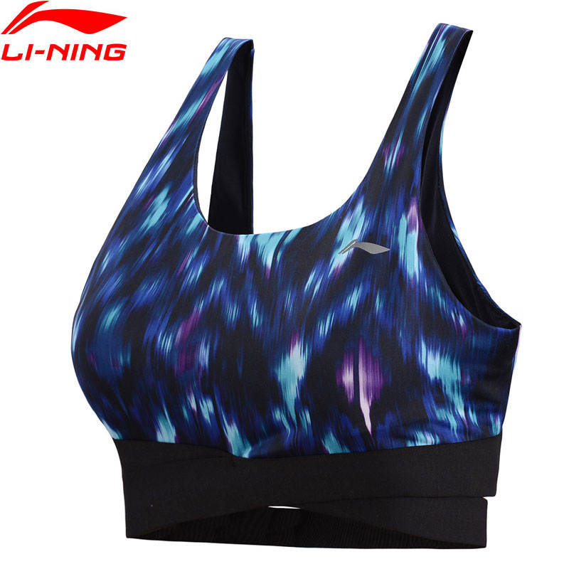 цены Li-Ning Women Professional Tight Sports Bras Medium Support Breathable Comfort LiNing Sport Bra AUBN148 WBJ186