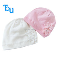 Tou Baby Girl S Winter Hat Kids Lovely Flowers Warm Knitted Hat Cloche Hat Chidlren Outdoor