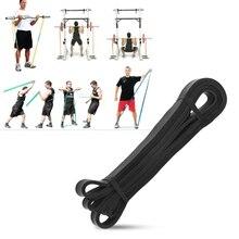 208 cm Faixas da Resistência do Látex Natural de Alta Resistência Poder de Construção Do Corpo de Fitness Yoga Pull Up Rope Training Powerlifting