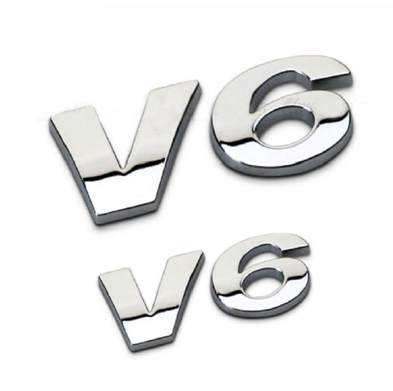 SILVER AND CHROME ROUND FORD GT EMBLEM INSERT