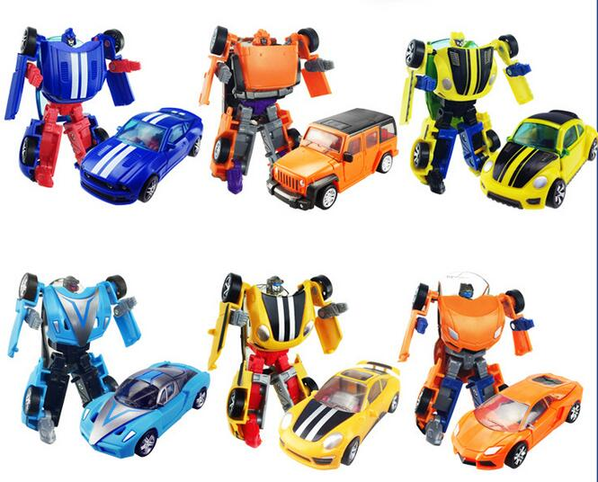 6 styles Original High quality ABS and Metal Alloy Cars Deformation Robot 8cm Mini Action figure