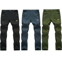 2017 de Invierno Nuevos hombres Pantalones de Senderismo Al Aire Libre Pantalones Camping Senderismo Pantalones de Esquí a prueba de Viento Impermeable Térmica Gruesa 5XL VA001