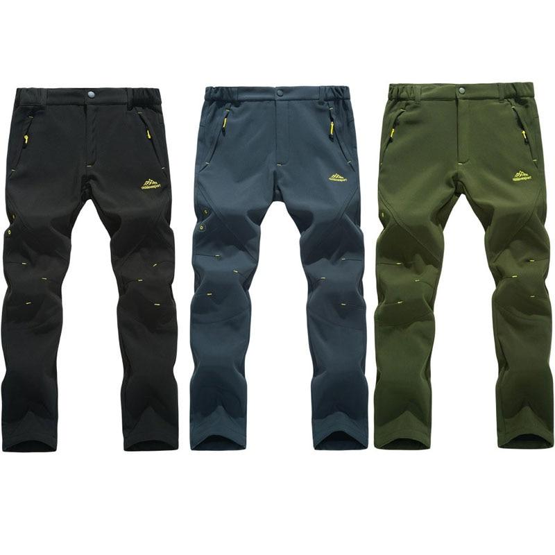 2018 New Men's Winter Trekking Pants Outdoor Waterproof  WindProof  Thermal Thick Trousers Hiking Camping Ski Pants 5XL VA001