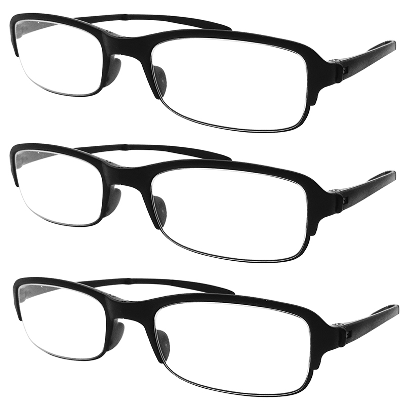 f64b0e33ab77 3x Light Folding Reading Glasses Mens Womens Readers Eyewear Office Home  Travel Spectacles +1.0 to +4.0 Lenses Black Red Brown -in Reading Glasses  from ...