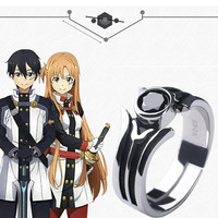 Anime Sword Art Online Kirigaya Kazuto Ring 925 Sterling Silver Jewelry Cosplay Accessories for Men Ring Resizable Usa Size 7/9