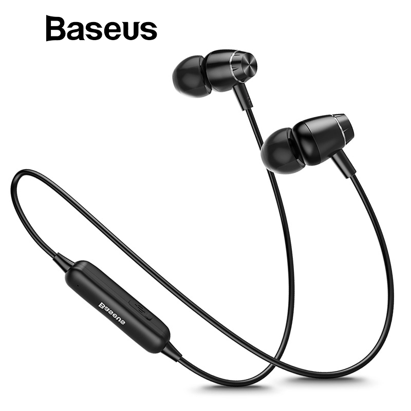 Baseus S09 Bluetooth Earphone Wireless IPX5 Waterproof Earphones Neckband Fone de ouvido Sports Headset Stereo Earbuds Earpieces baseus s09 bluetooth earphone wireless ipx5 waterproof earphones neckband fone de ouvido sports headset stereo earbuds earpieces