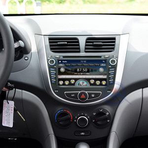 Image 5 - 2 din CAR DVD multimedia player for Hyundai Solaris accent Verna i25 autoradio GPS navigation stereo radio BT ipod USB port MAP