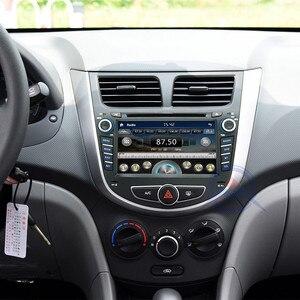 Image 5 - Автомобильный DVD плеер, 2 din, мультимедийный плеер для Hyundai Solaris, accent, Verna, i25, Авторадио, GPS навигация, стерео радио, BT, ipod, USB порт, карта