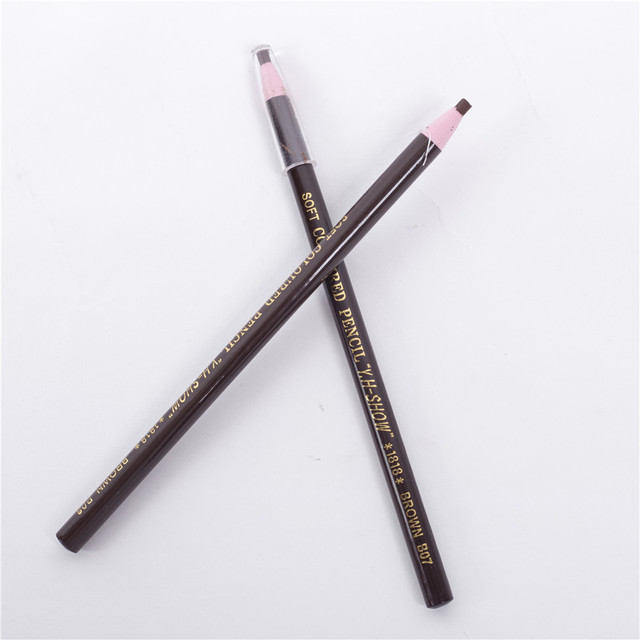 12 Pcs Eyebrow Pencil Free Cutting Natural Long Lasting Black Brown Coffee Microblading Permanent Waterproof Eyebrow Make Up 1