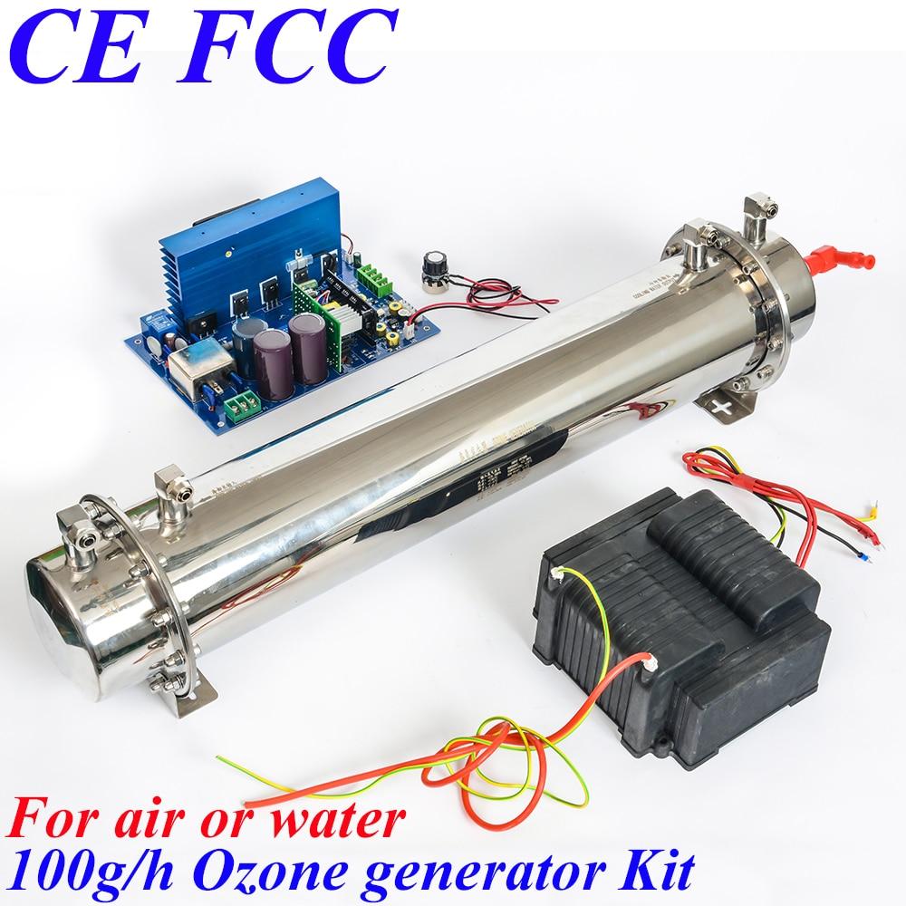 Pinuslongaeva CE EMC LVD FCC 100g/h Quartz tube type ozone generator Kit ozone reactor o3 tap water ozone generator ce emc lvd ozone generator