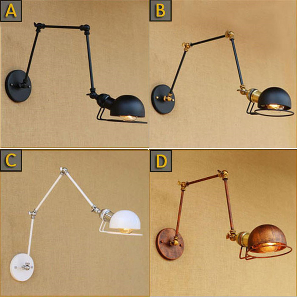 White American country rural creative Metal head bar wall lamp sconce lights lighting ba ...