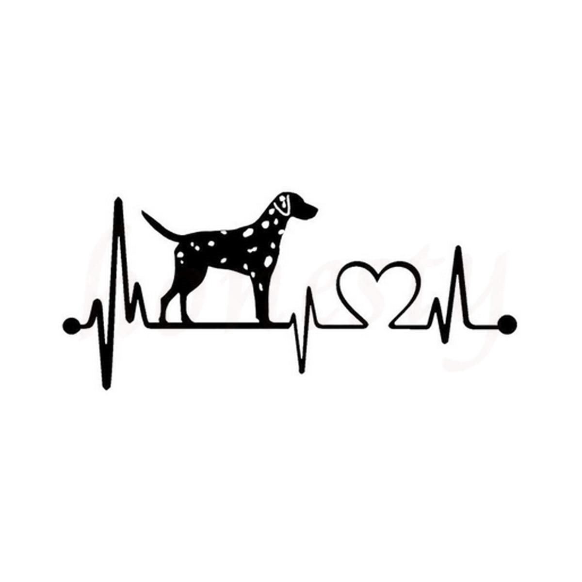 Batimentos Cardíacos dálmata Cão Adesivos de Parede Início