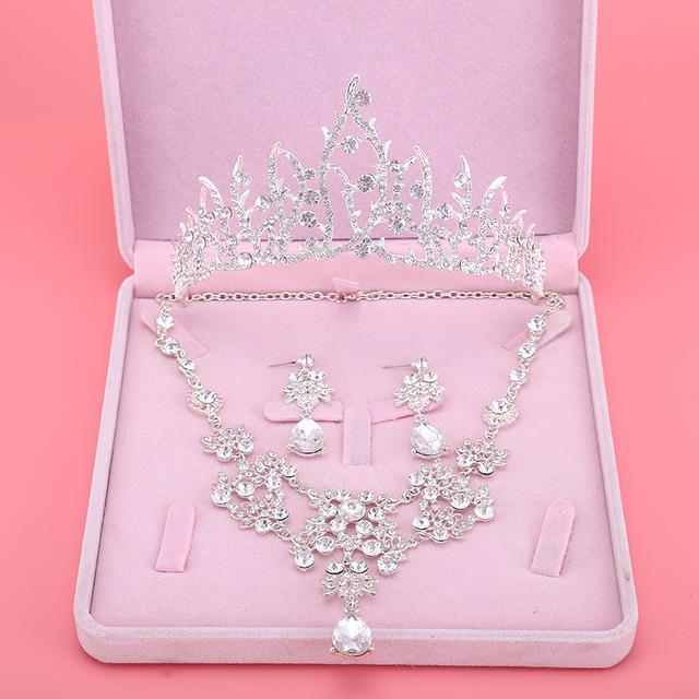Um Nobre Noiva Coroa Tiara de Casamento Loja Online Atacado Acessórios De Noiva coroa parágrafo noiva