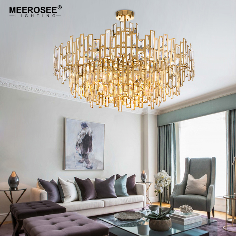 Luxurious Crystal Chandelier Light Gold Crystal Hanging Lamp for Restaurant Hotel Project Lustres Luminaire Lighting nokia 515 light gold