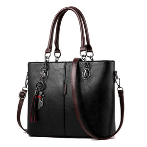 Image 1 - Luxury Handbags Women Bags Designer Big Crossbody bags For Women 2021 Solid Shoulder Bag Leather Handbag sac bolsa feminina
