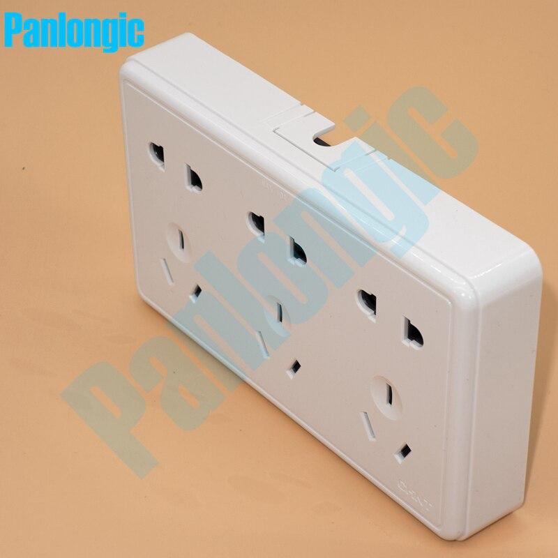 Bề mặt Được Gắn Màu Trắng Tinh Khiết 86 Loại Bảng Ổ Cắm Điện 15-Pins Outlet Điện 10A Phích Cắm Điện Ổ Cắm 2 Lỗ Và 3 lỗ