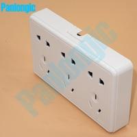 Opbouw Pure White 86 Type Stopcontact Panel 15-Pins Outlet Elektrische 10A Stekkers Sockets 2 Gaten En 3 gaten