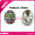Specials 33 * 26mm Easter egg rhinestone button can mix colors with Flatback 20PCS