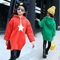 Fashion Casual Thicken Velvet Kids Girls Sweatshirt Autumn Winter Hoooded Cotton Baby Girl Tops Sport Children's Costumes