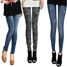 Slim Women's Leggings Lady 2Colors Denim  Jeans Bodycon Leggings Jeggings Pants New