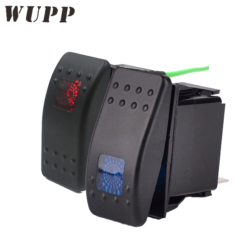 WUPP Red/ Blue Rocker Switch 12V Power Socket Switch With Reset Waterproof For Car Boat Motorcycle Bus Hot Selling
