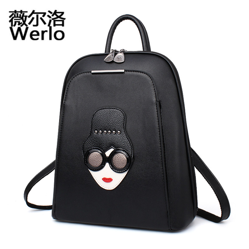 WERLO Famous Brand Women Backpack Luxury Designer Lady Small Backpacks For Teenage Girl High Quality PU