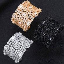 GODKI luksusowy kwadratowe cyrkonie obrączki dla kobiet biżuteria ślubna dla nowożeńców CZ akcesoria dla kobiet całe pierścienie