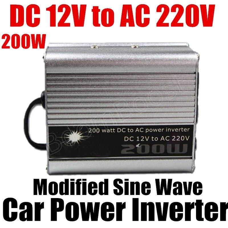Auto konverter Geänderte Sinus-welle Auto Zubehör Wechselrichter DC 12 V AC 220 V 200 Watt Auto spannungswandler Usb-ladegerät